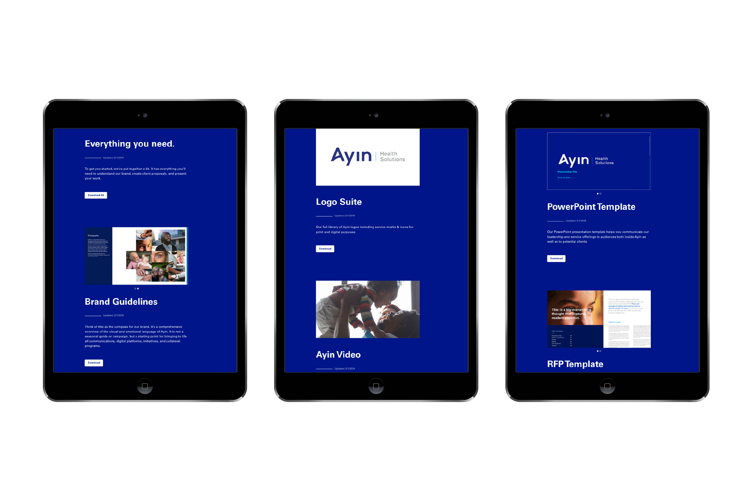 Ayin Health Solutions marketing material sharing portal