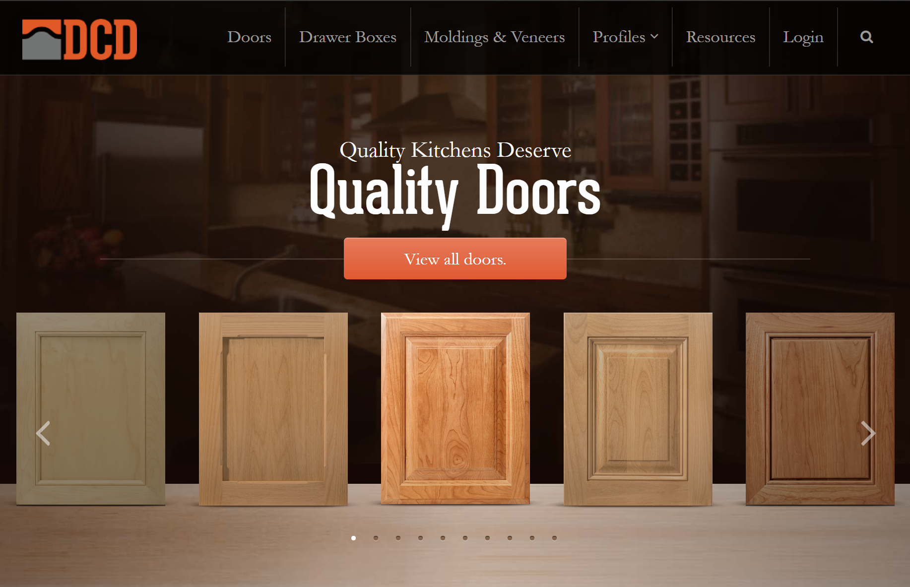 Design Craft Door - Desktop Home Page