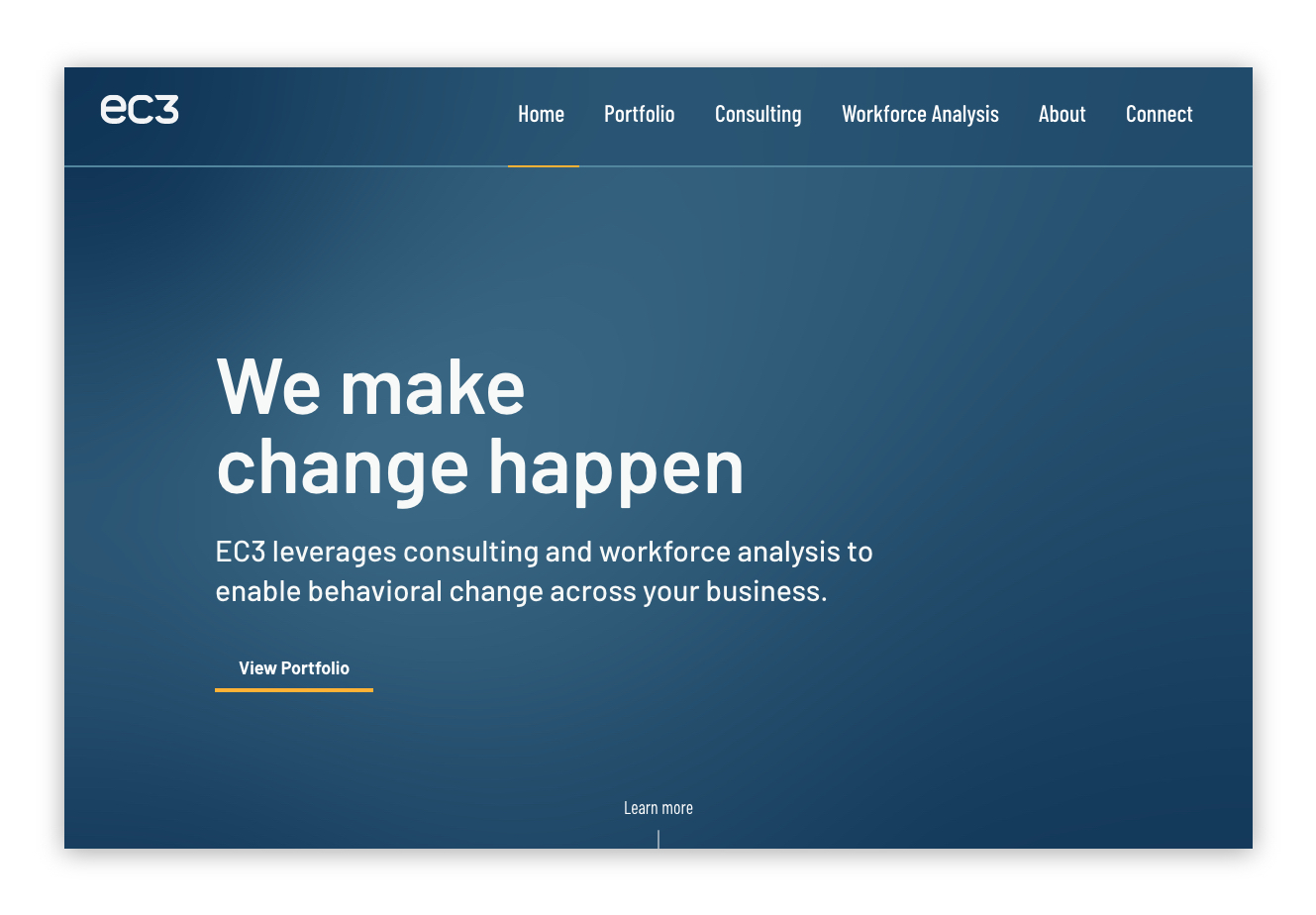 EC3 - Home Page Thumbnail on Desktop