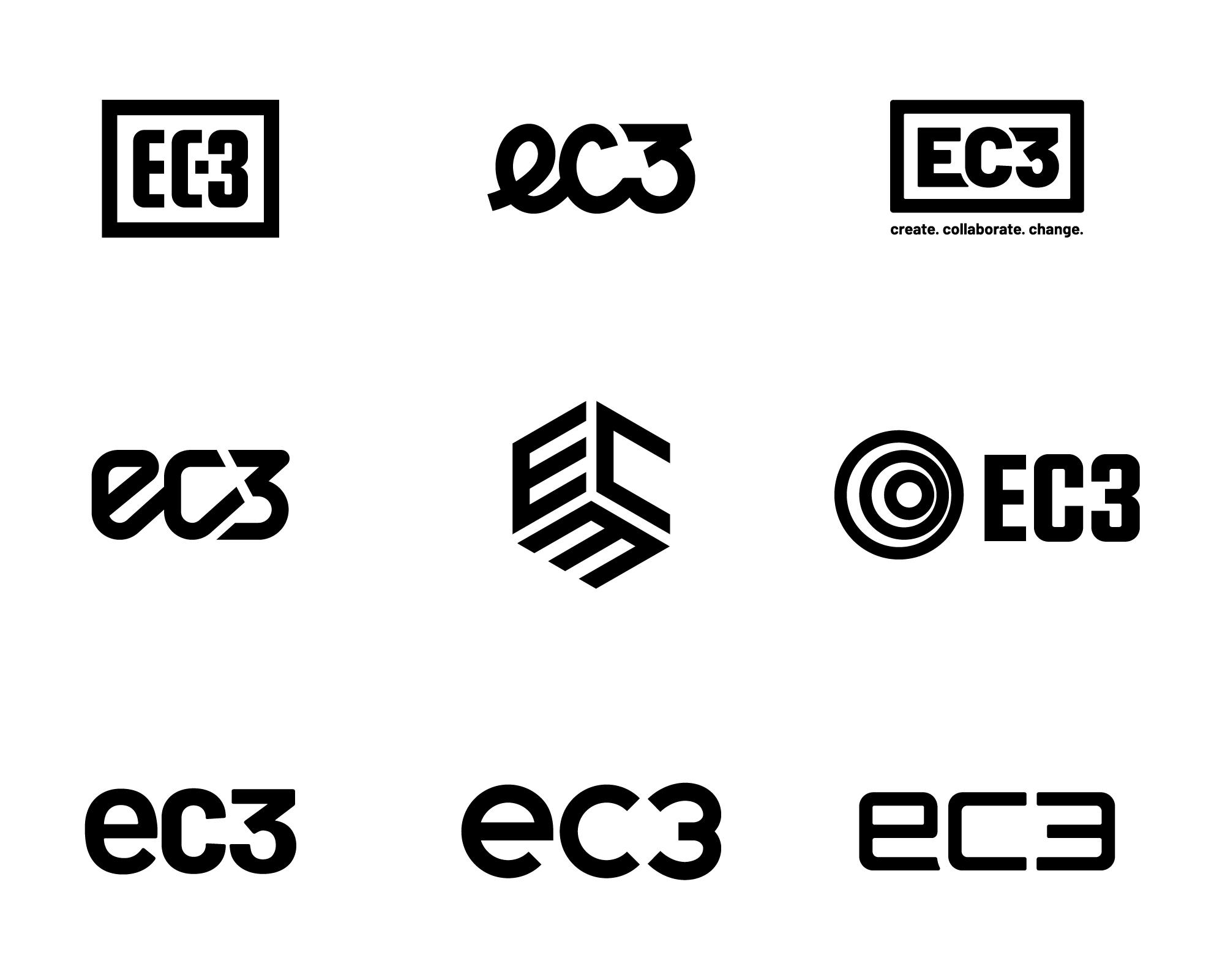 EC3 - Design Progression of Logo Ideas