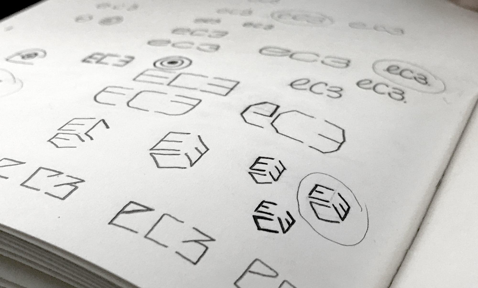 EC3 Logo - Sketch Book Iteration