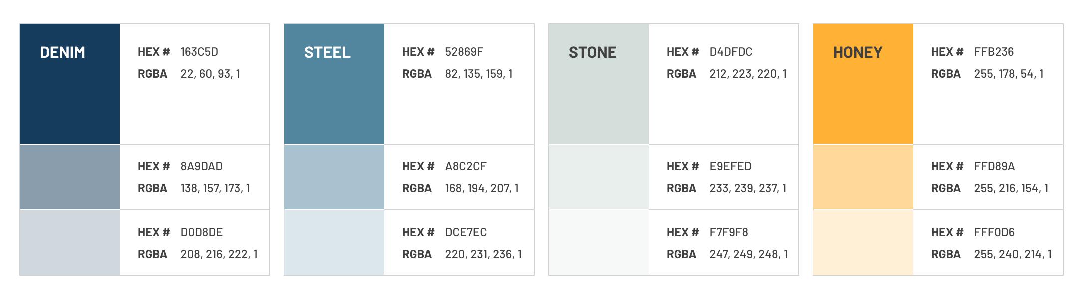 EC3 - Website Color Palette