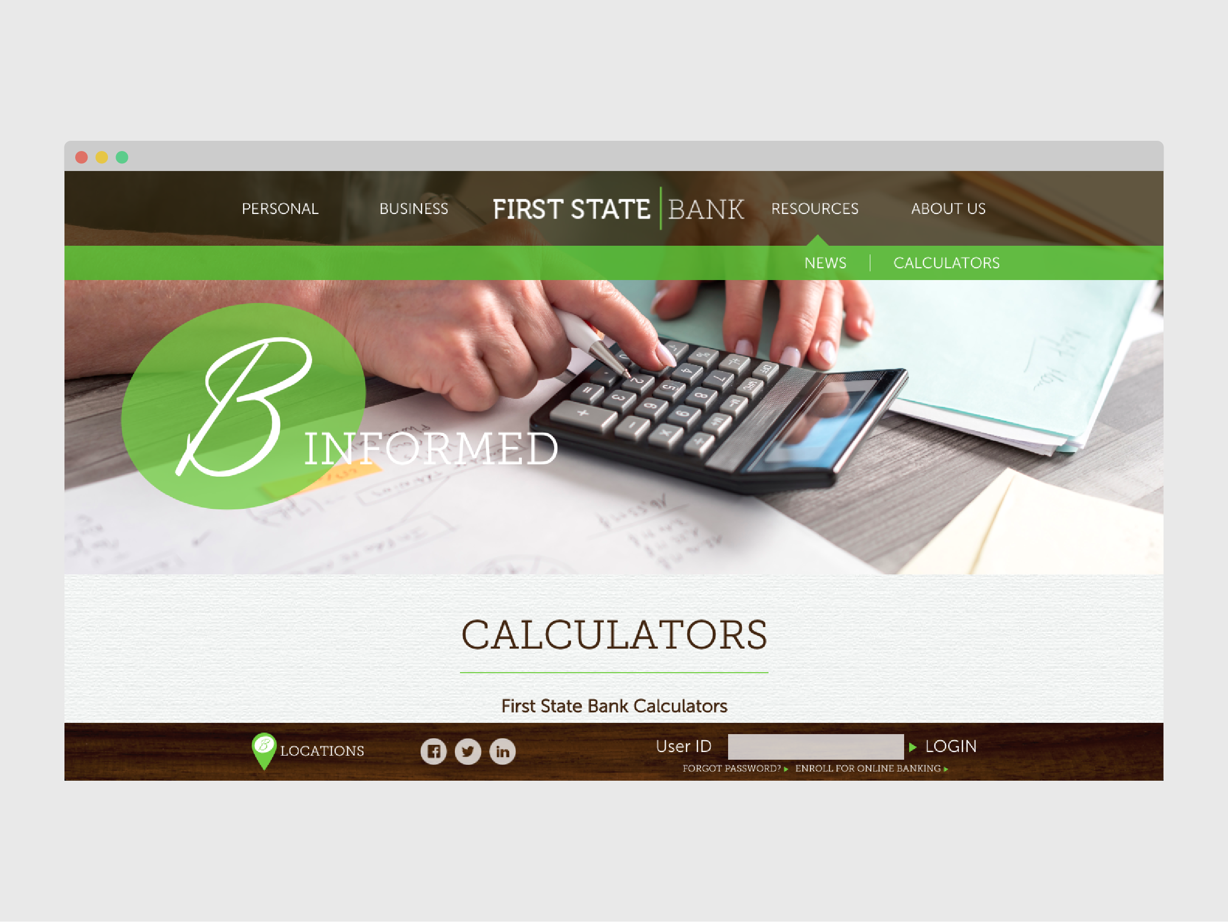 First State Bank financial calculators