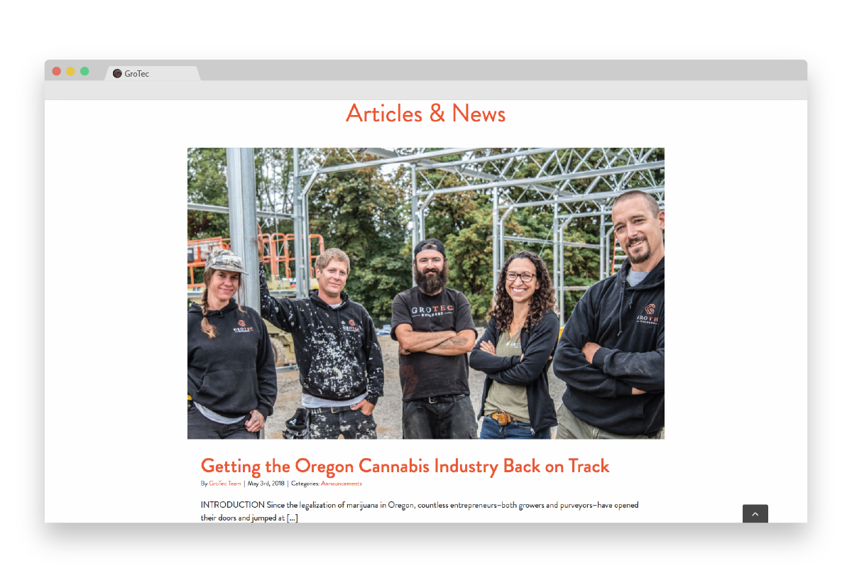 Gro Tec articles and news browser