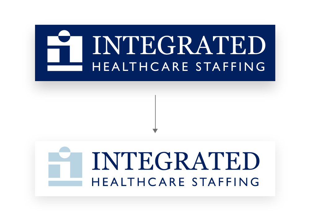 Integrated Health Solutions updated logo with Data Driven Design suggestions