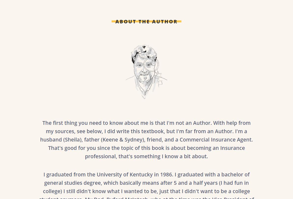 Insurance Genius - About the Author Desktop
