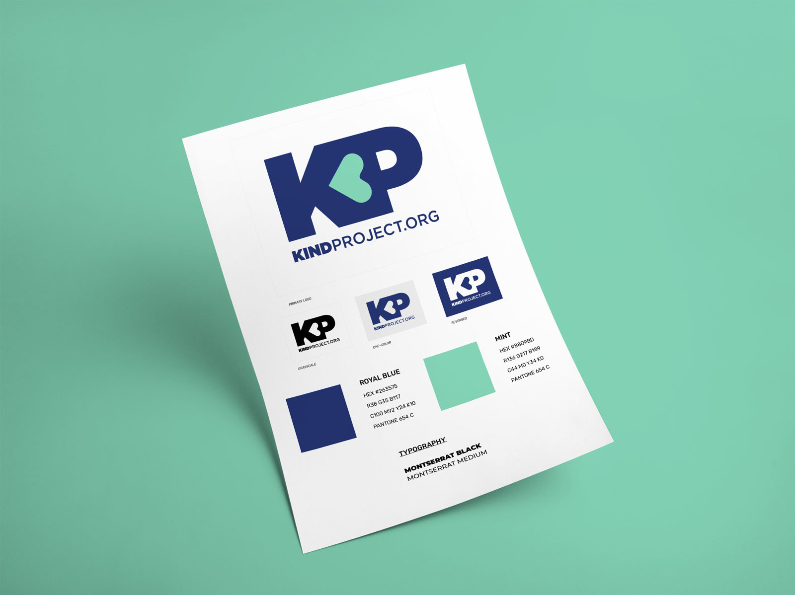 Kind Project - Branding guidelines for logo, typography and colors