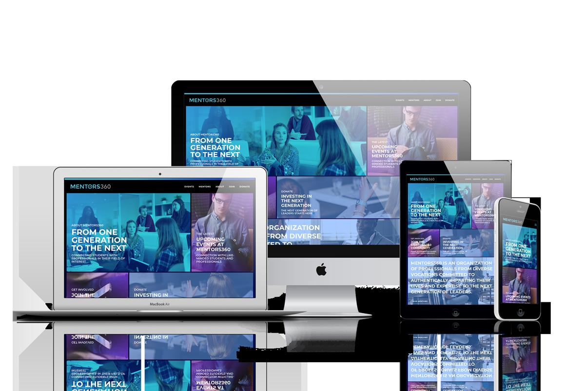 Mentors360 responsive design