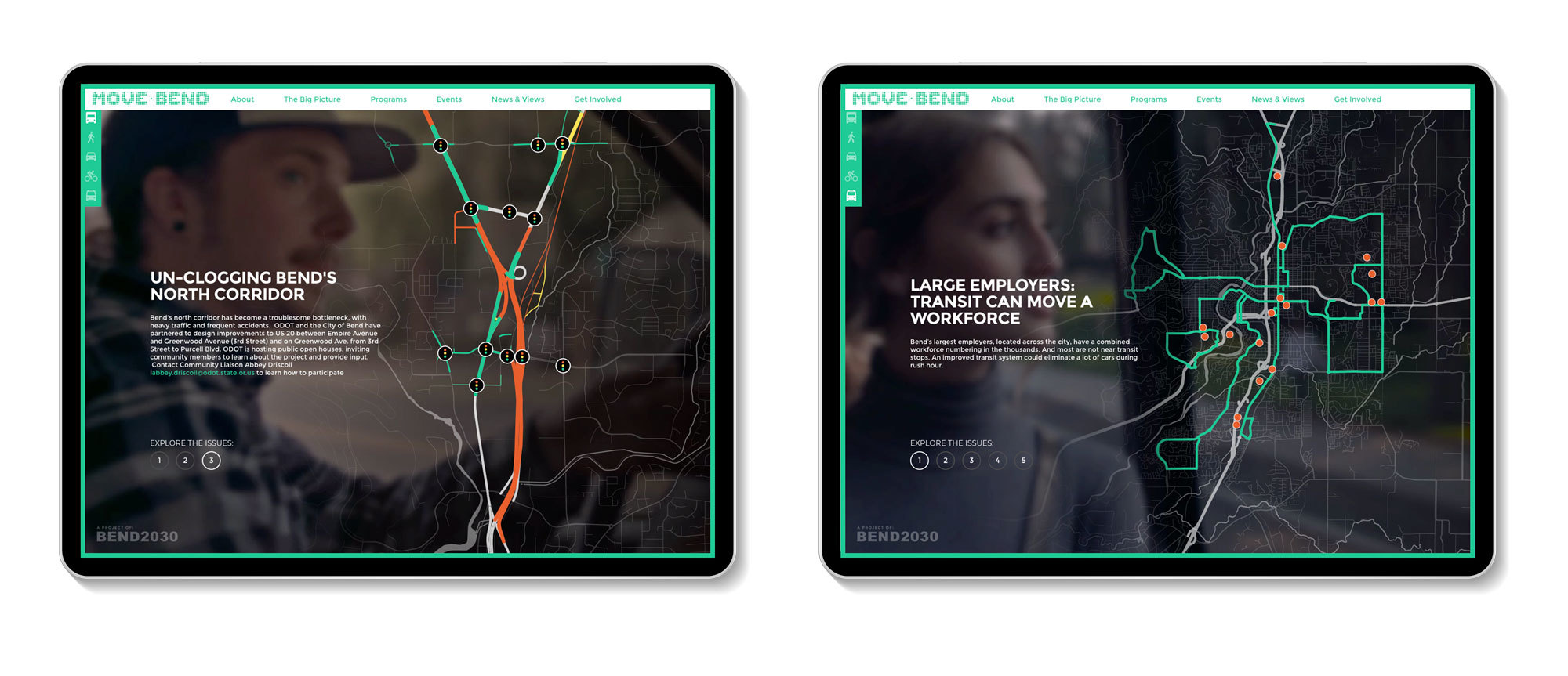 Move Bend transportation information maps
