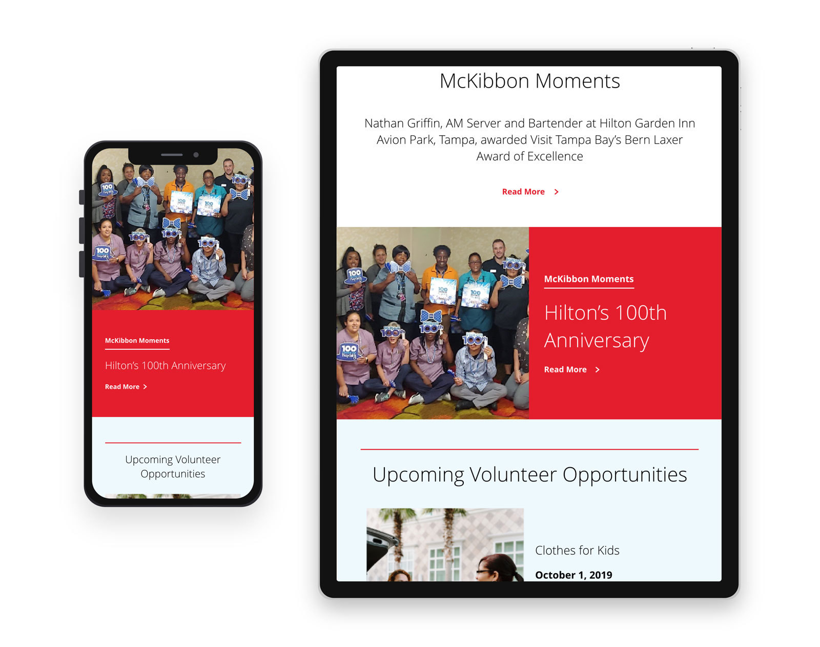 McKibbon Home Newsletter Blog Post 2 - View on mobile device and tablet