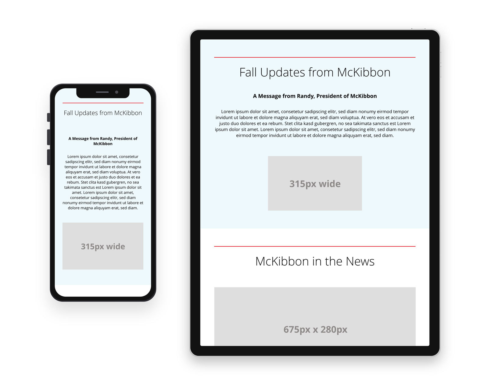 McKibbon Home Newsletter Blog Post 3 - View on mobile device and tablet