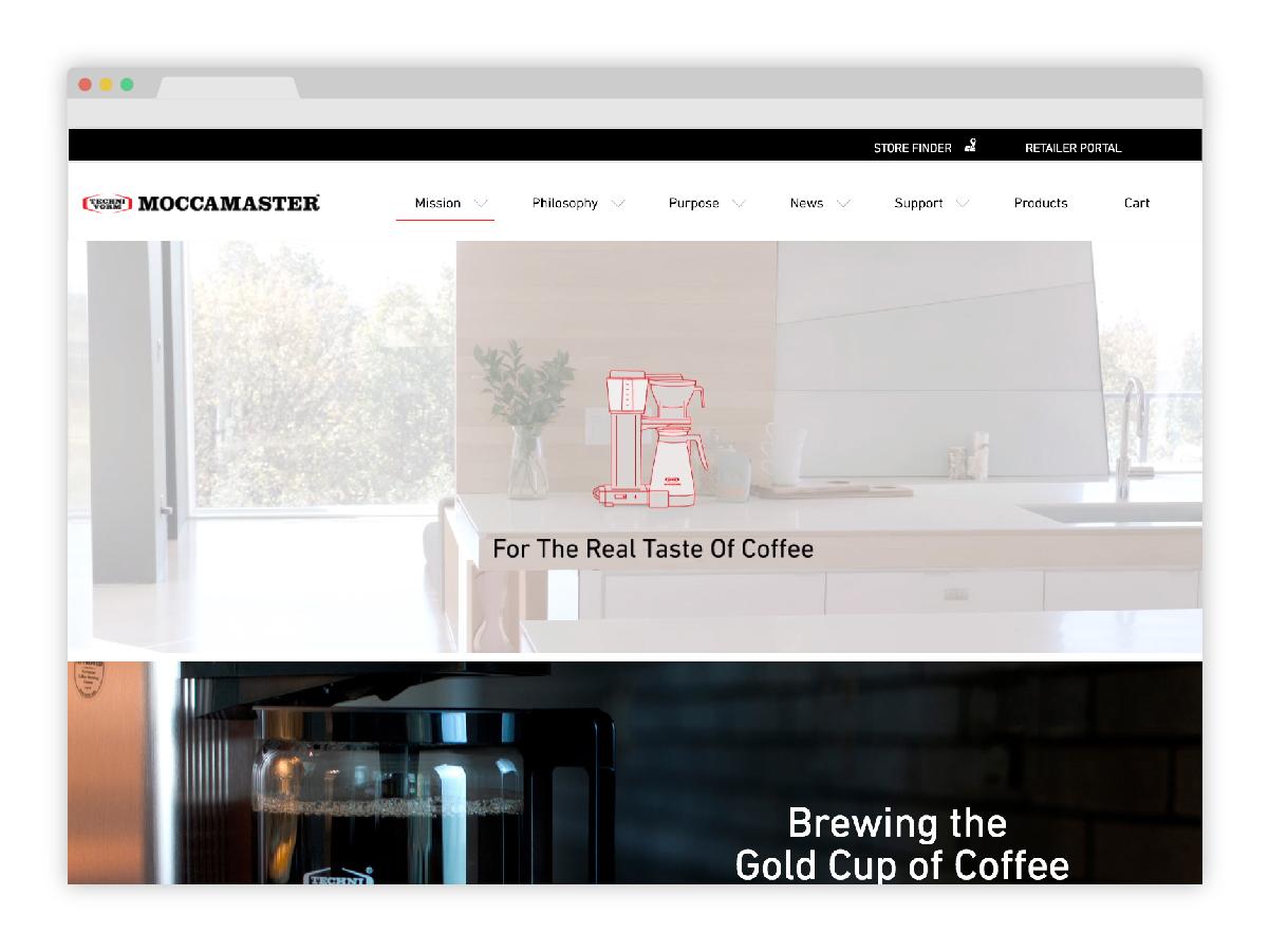 Moccamaster homepage