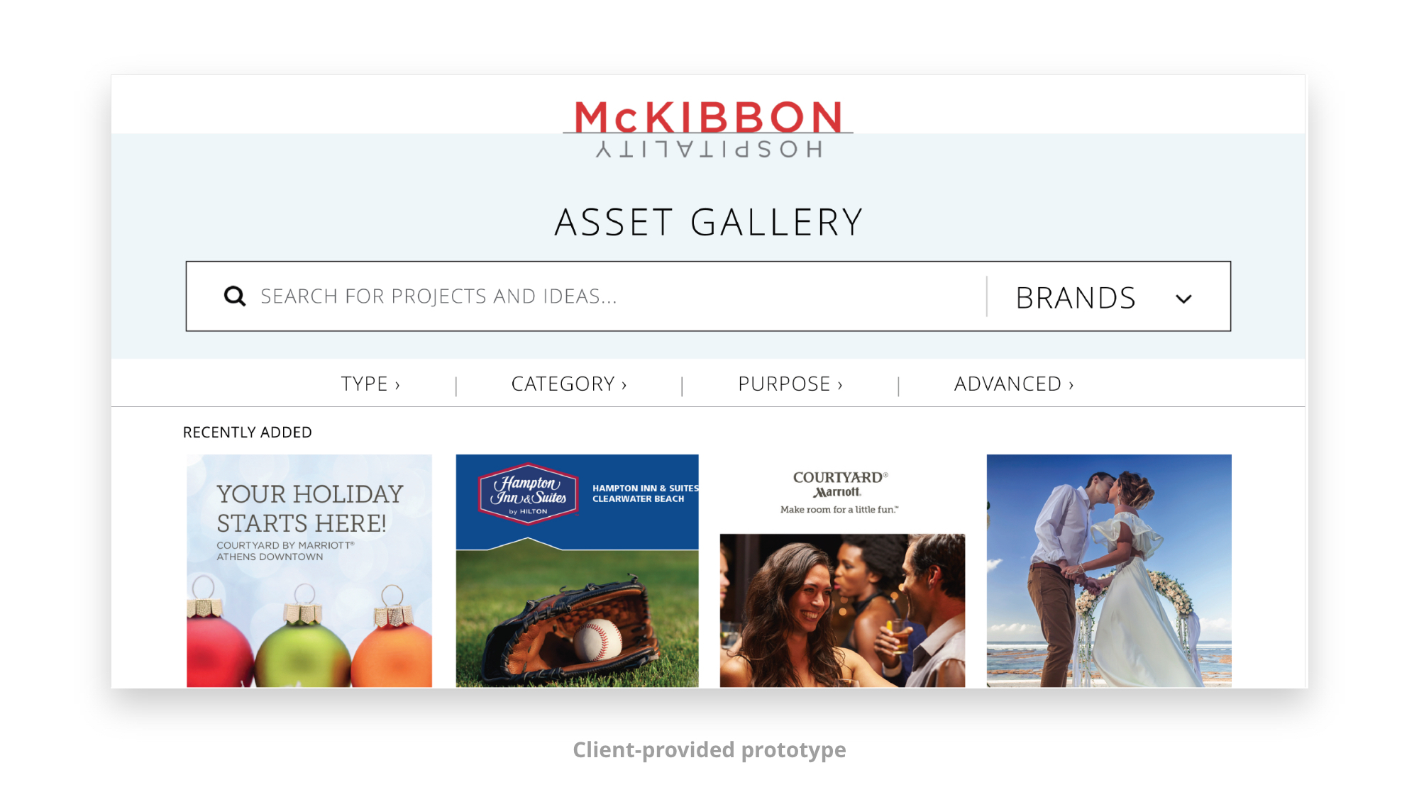 McKibbon Asset Gallery Prototype