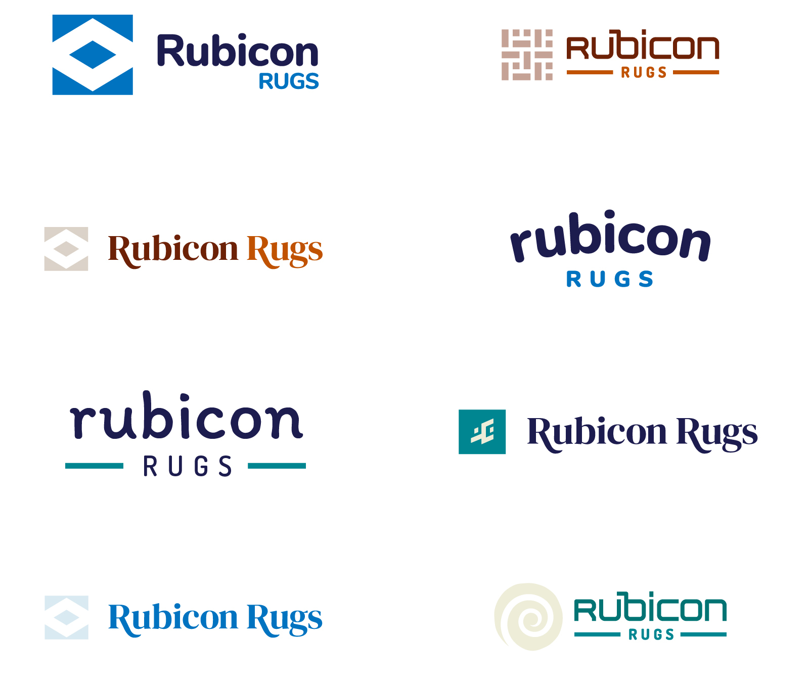 Rubicon Rugs Logo Options in Colors