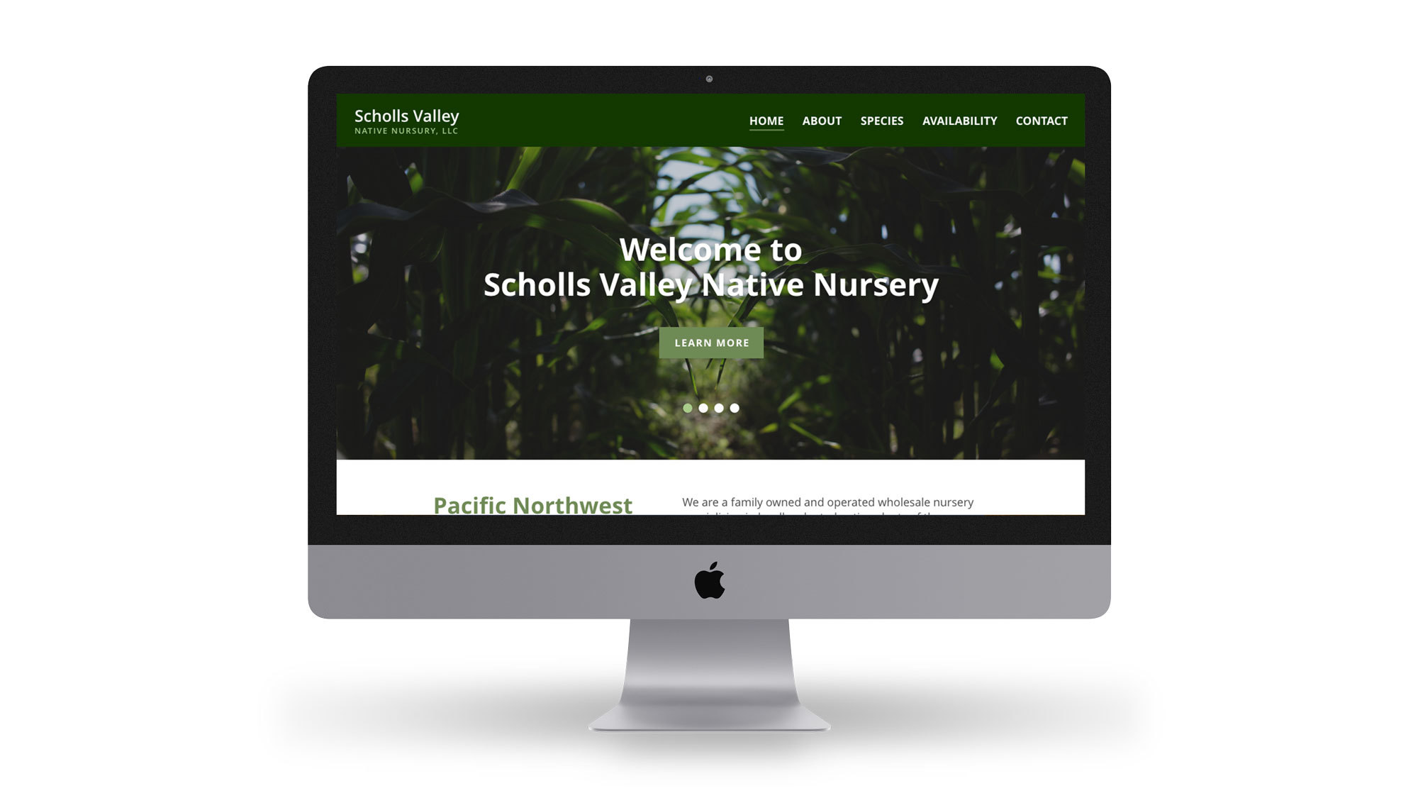 Scholls Valley Native Nursery Website new design