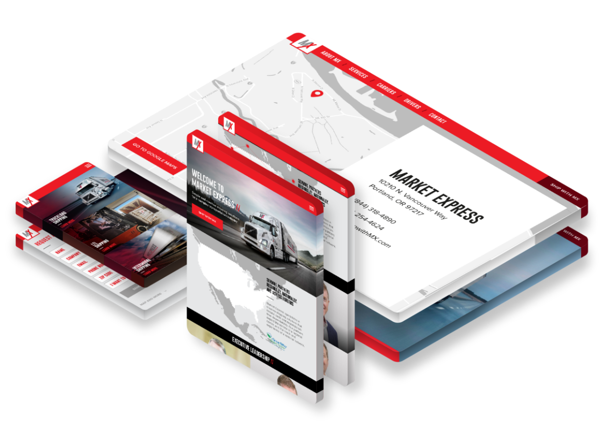 Market Express trucking - responsive web design and development
