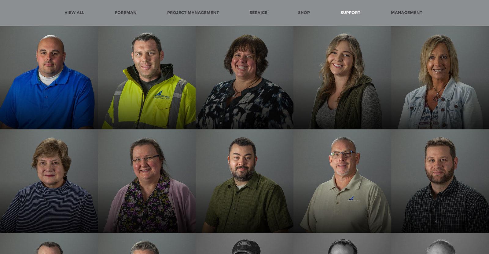 Arctic Sheet Metal - Support Staff Team Members