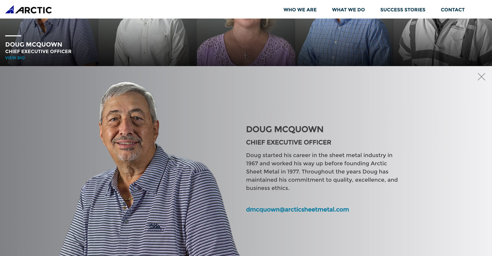 Arctic Sheet Metal - CEO Team Bio