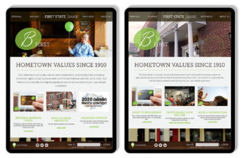 First State Bank multiple audiences ipads