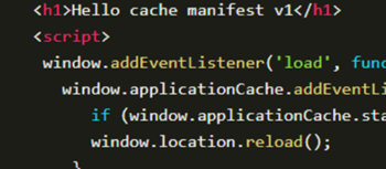 Handle Asset Caching with Cache Manifest Files Code Snippet Image
