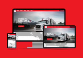 How to design build website for the logistics industry - Market Express Responsive Website on devices