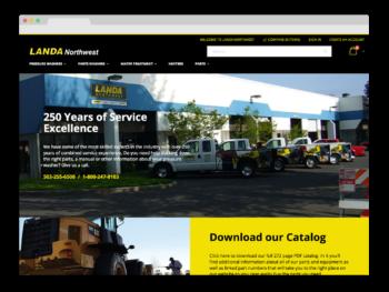 Landa Northwest Magento e-commerce website