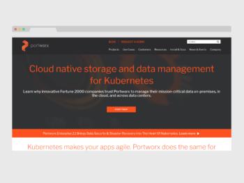Portworx website homepage