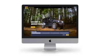 Warrior Products new home page design