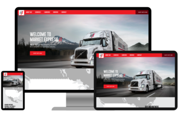 Market Express - Responsive web development and design for the trucking industry