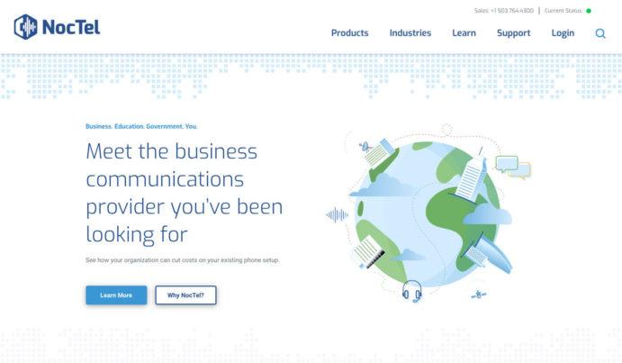 Noctel Communications - Website Development for Hero with Custom Animations