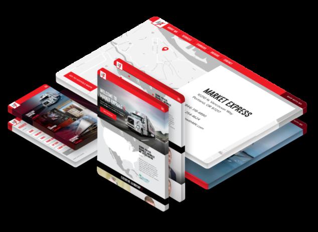 Market Express trucking - responsive web design and development