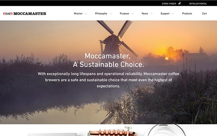 Moccamaster website on laptop/desktop