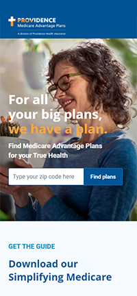 Providence Medicare Website on Moblie Device